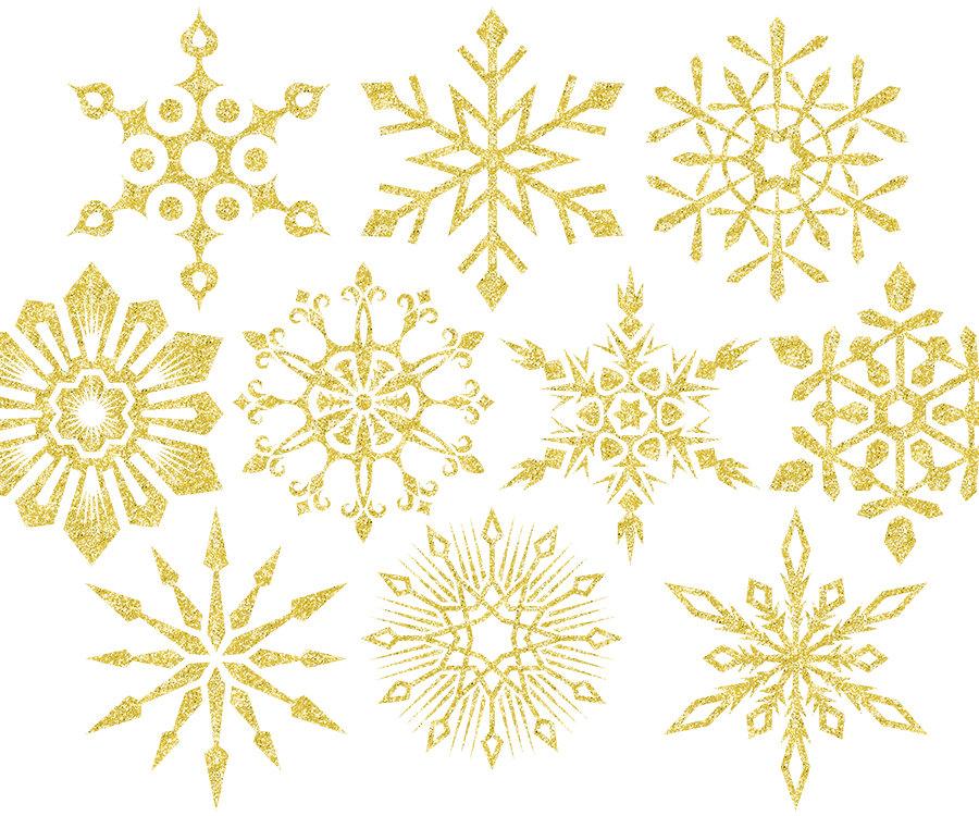 Christmas clipart Gold glitter snowflake clipart Holiday clipart gold  Christmas clip art Glitter clipart Digital clipart digital png.