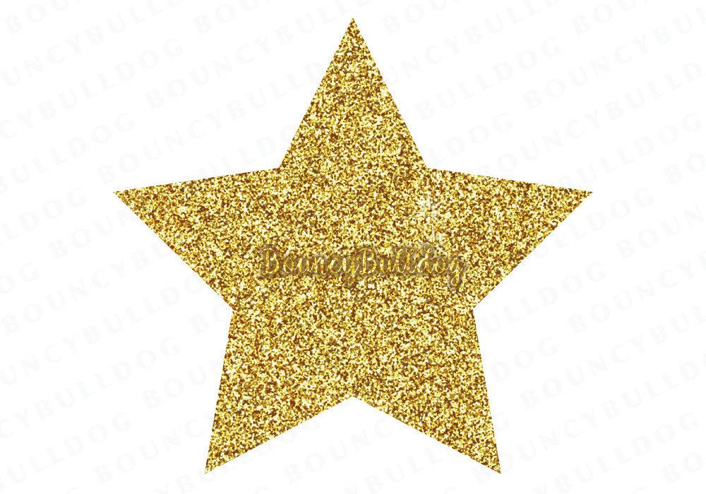 Glitter Stars Clipart.