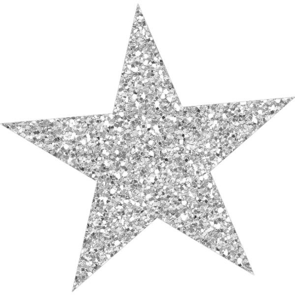 Silver sparkly star ❤ liked on Polyvore featuring fillers.