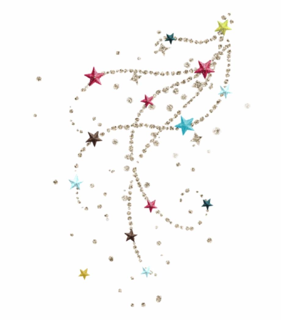 Christmas Stars Glitter Tattoo.