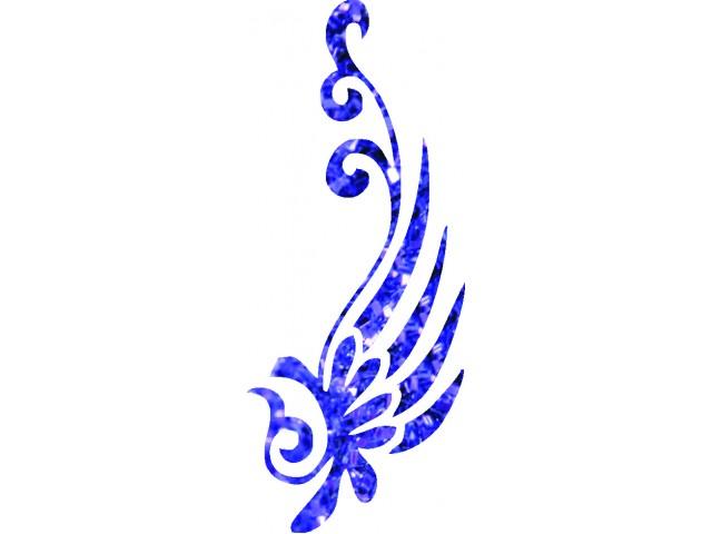 Flower 03 glitter tattoo stencil.