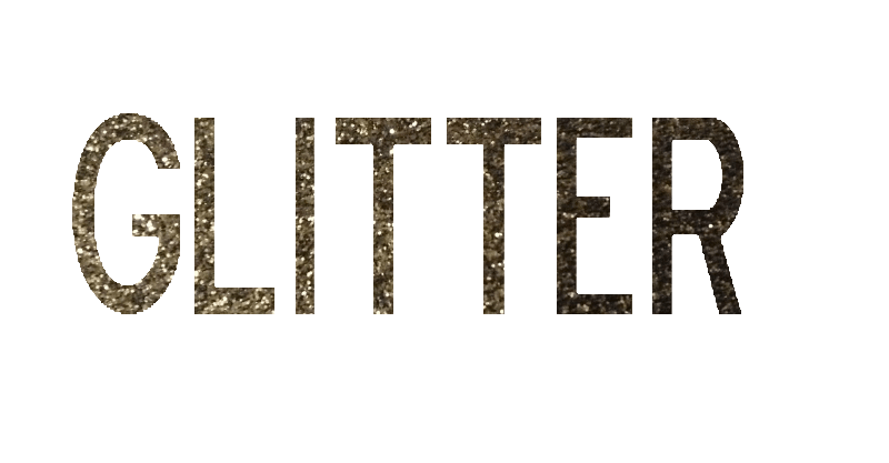 How to Add a Gold Leaf or Glitter Texture To Text.