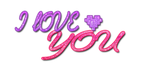 Download I Love You Text Glitter Text PNG.