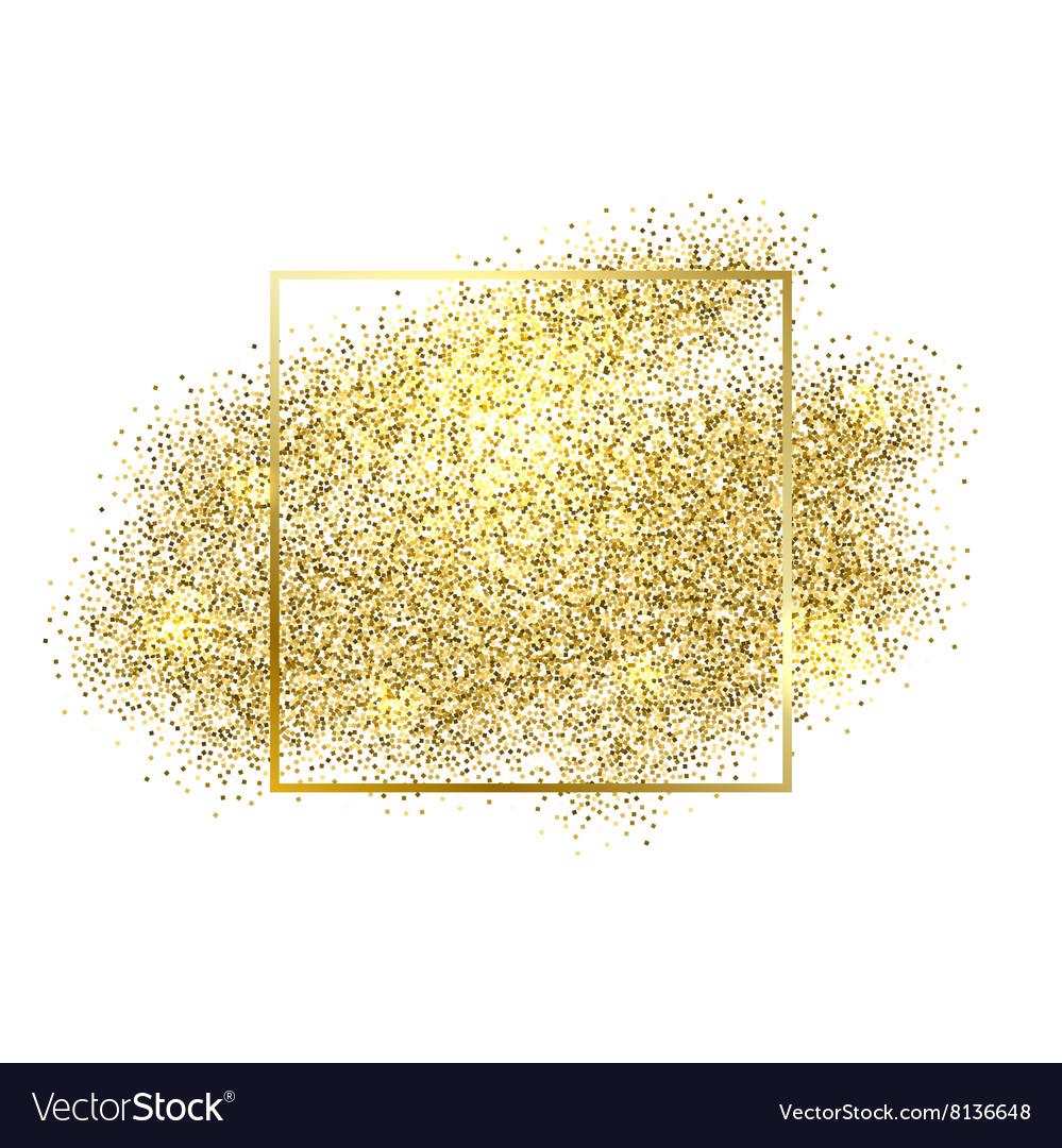 Gold sparkles on white background Gold glitter.