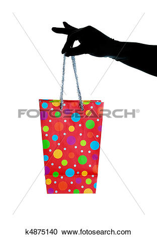 Stock Photography of Glitzy Christmas Gift Bag k4875140.