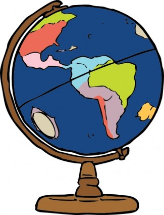 Earth Globe Clip Art.