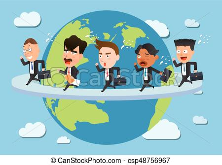 Business corporation global business concept flat character.