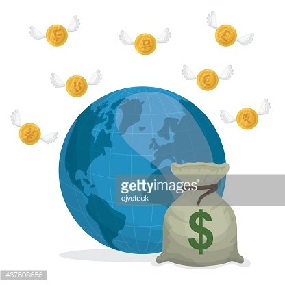 Business, money and global economy Clipart Image.