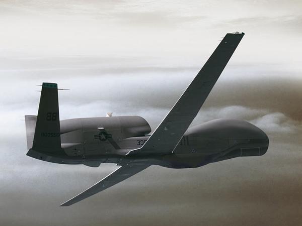 Global Hawk air drone, (.3ds) 3D Studio Max software.