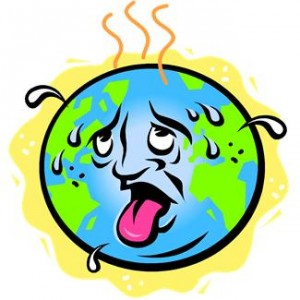 Effects of global warming clipart.