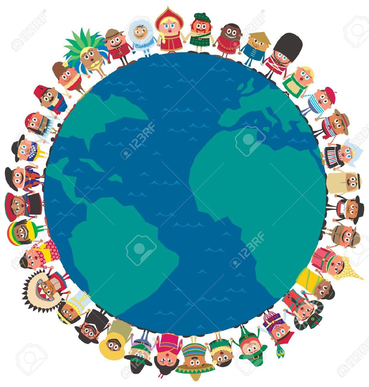 Menschen Aus Der Ganzen Welt, Die Hände Als Symbol Der Einheit.