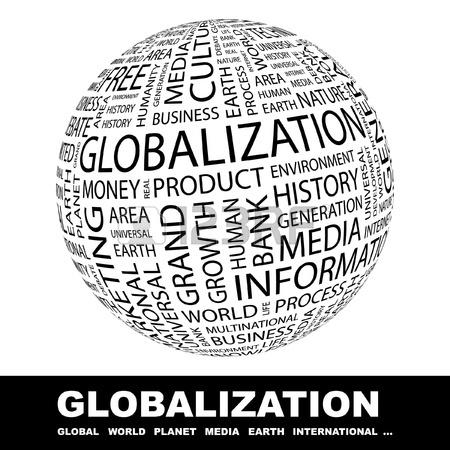GLOBALISIERUNG. Globus Mit Verschiedenen Association Bedingungen.