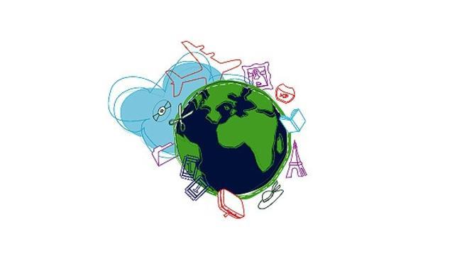 World Globalization Clip Art.