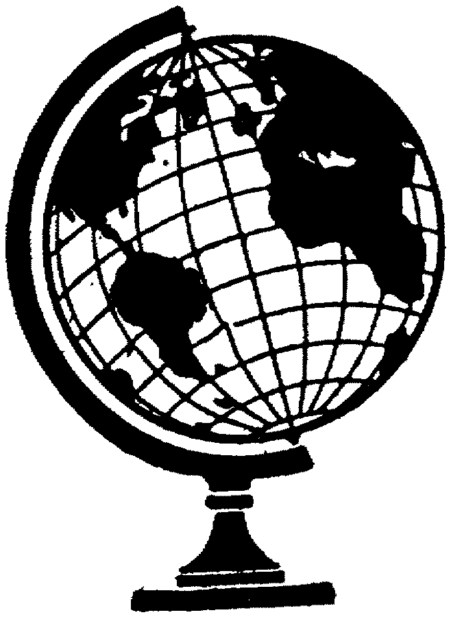 Free Globe Line Art Download Clip On Petite Clipart Black And White.