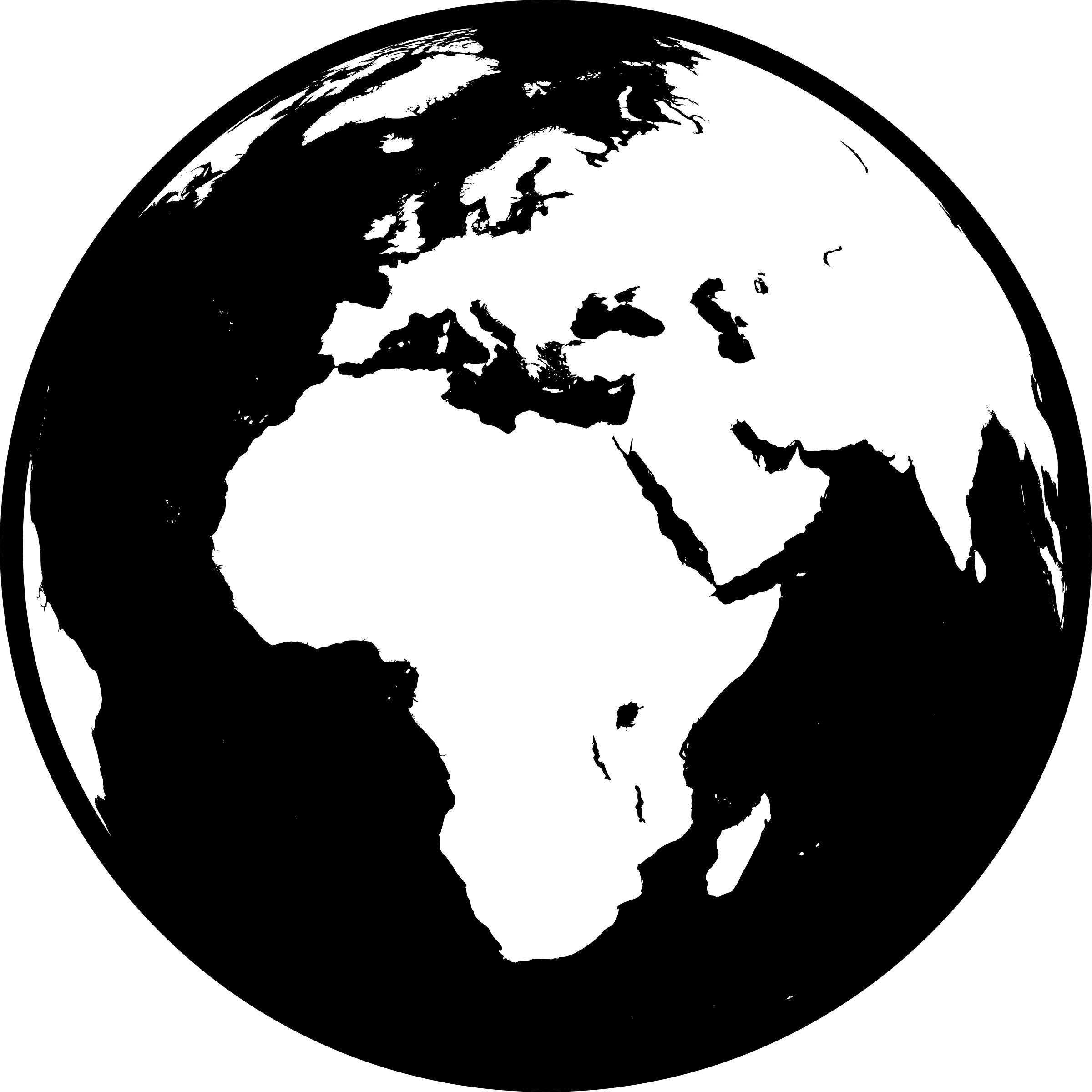 Earth Clipart Black And White Africa.