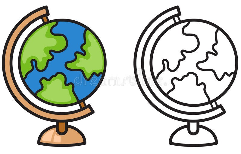 Globe Black And White Clipart 1 16 Globe Clipart Black And White.