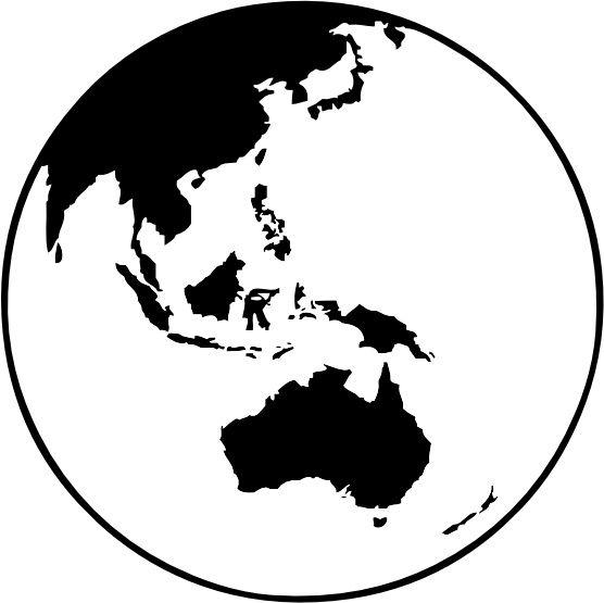 Earth Globe Oceania clip art Free vector in Open office.