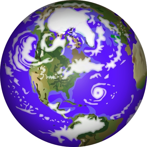 Planet Earth clip art Free vector in Open office drawing svg ( .svg.