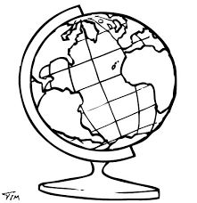 Globe Outline Drawing at GetDrawings.com.