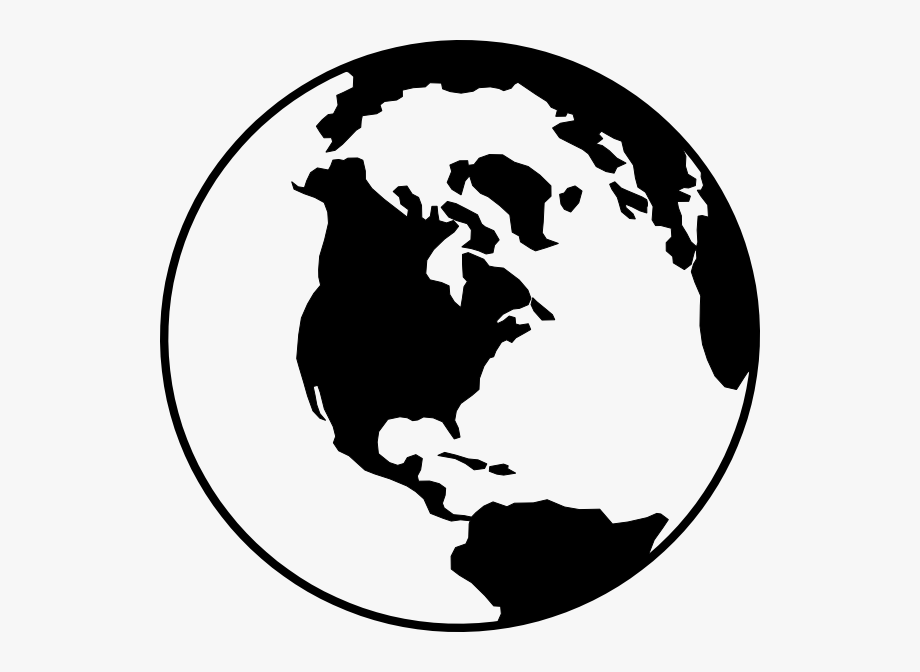 Black And White Globe Clipart , Transparent Cartoon, Free.