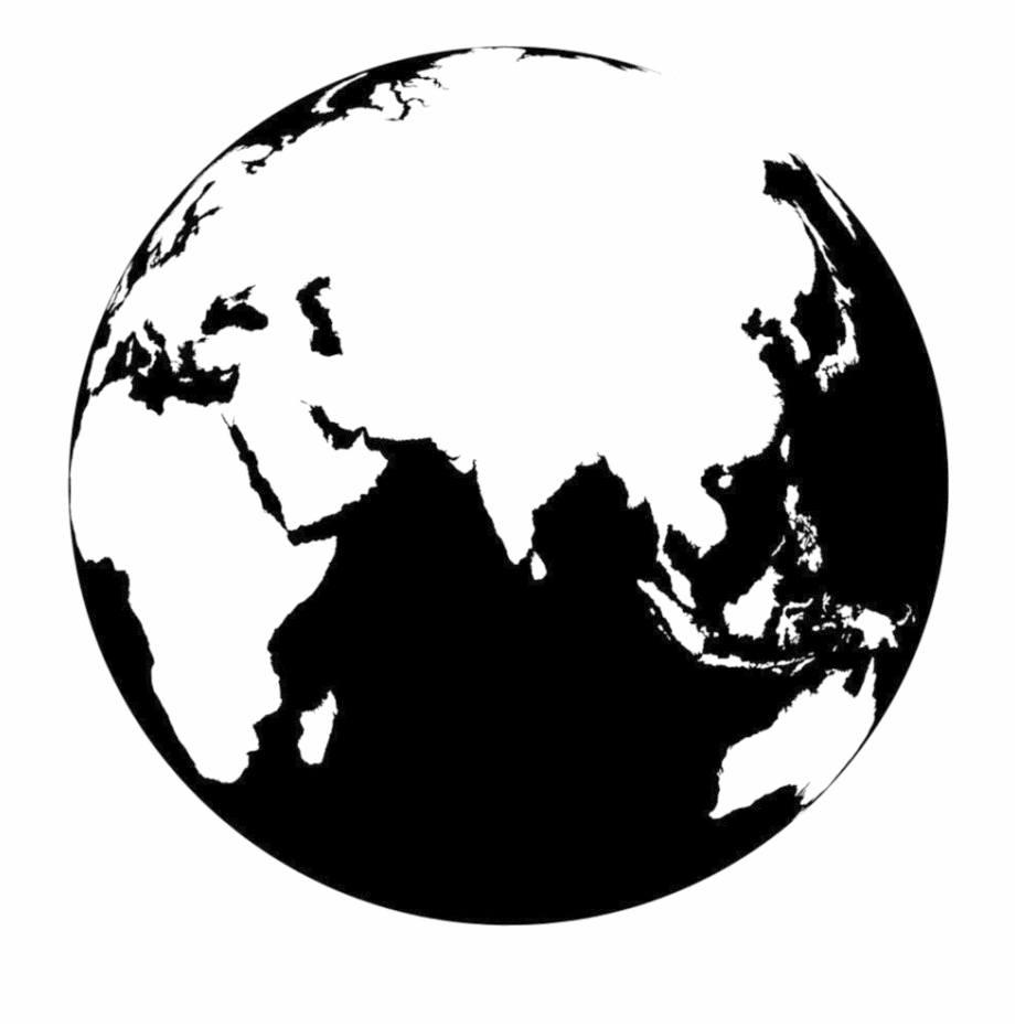 Earth Vector Image Png Png Download Globe Black.