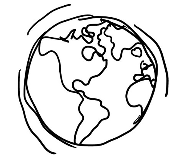 Line Drawing Of Globe at PaintingValley.com.