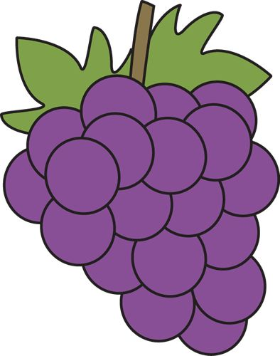 Clip art of grapes.