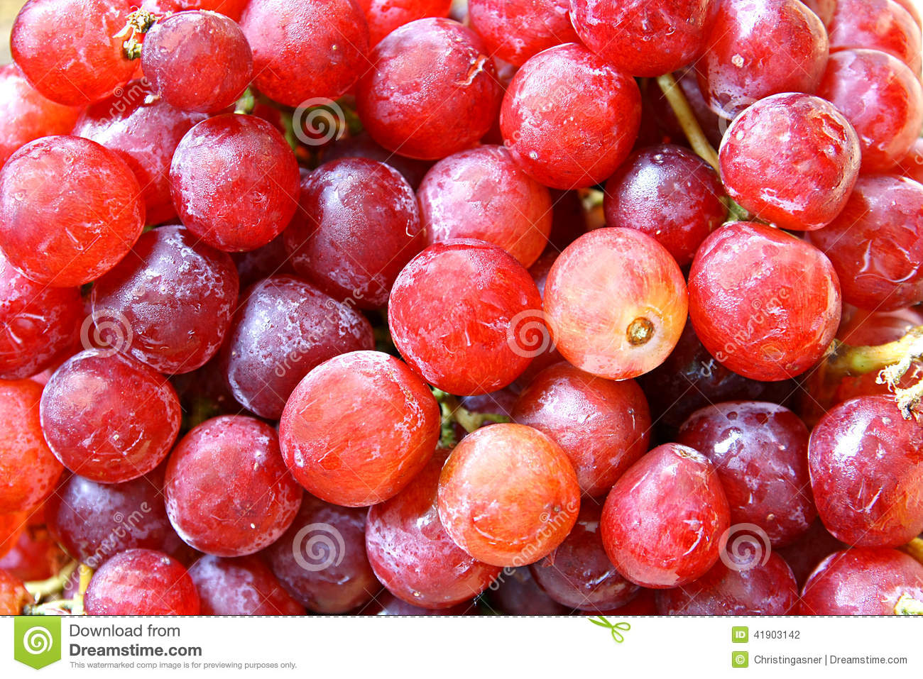 Red Globe Grapes Royalty Free Stock Photography.