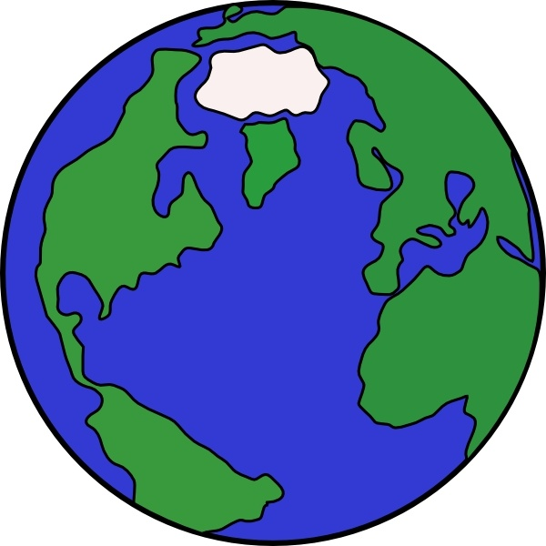 Globe clip art Free vector in Open office drawing svg ( .svg.