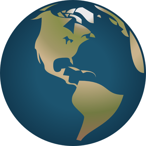 America world globe vector clip art.