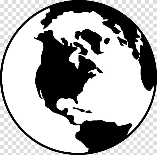 White and black earth illustration, Earth Globe Black and.