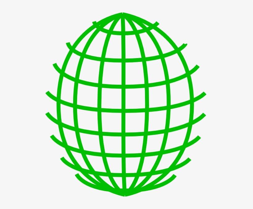 Green Globe Outline Transparent PNG.