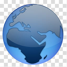 Cristallo Intenso World, Globe terrestre icon transparent.