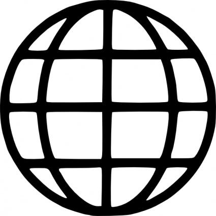 Free Globe Line Art, Download Free Clip Art, Free Clip Art.