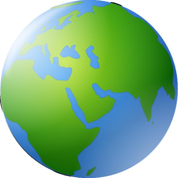 World Globe Vector Clipart.