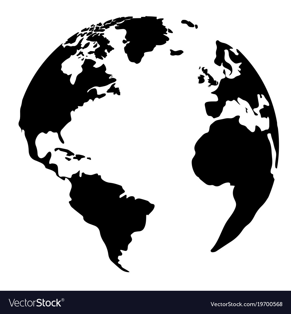 Silhouette of a globe.