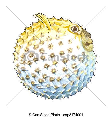 Clipart of globefish.