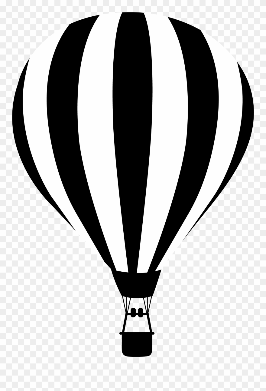 Clip Black And White Baloon Vector Black And White.