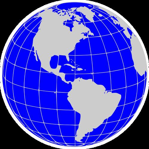 América mundo globo vetor clip.
