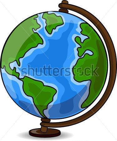 Resultado de imagen para globo terraqueo dibujo animado.