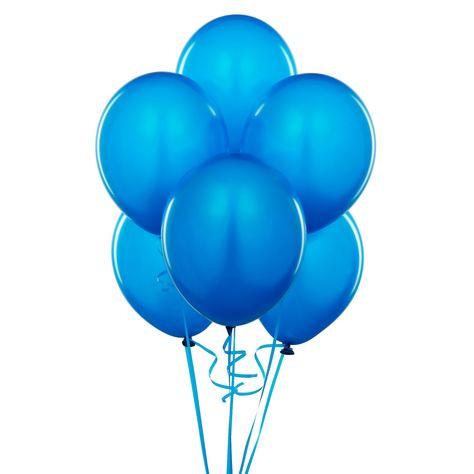los globos azules.
