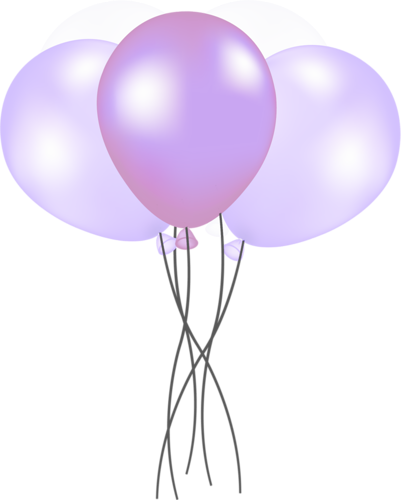 Download HD Purple And Pink Balloons.