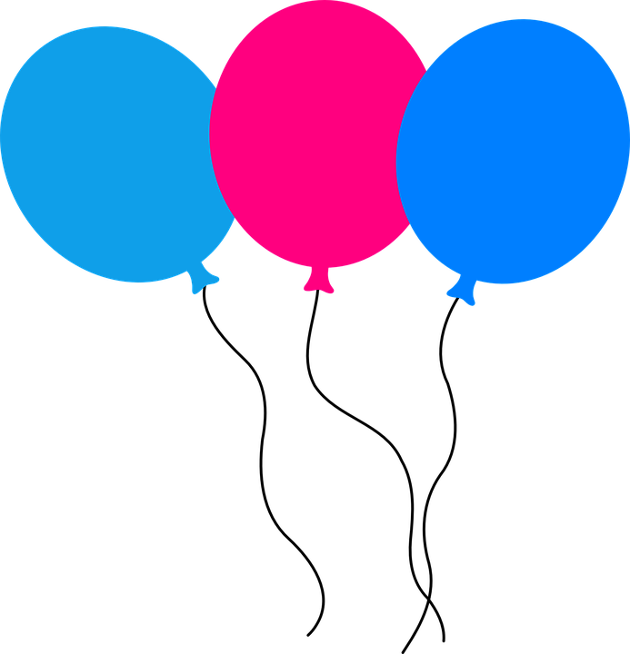 Vector globos azules png 1 » PNG Image.