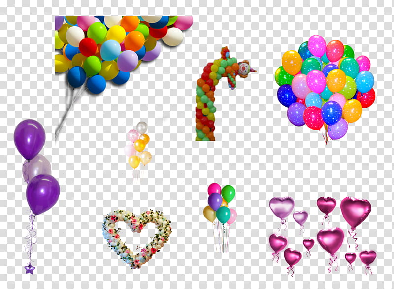 Globos, assorted.