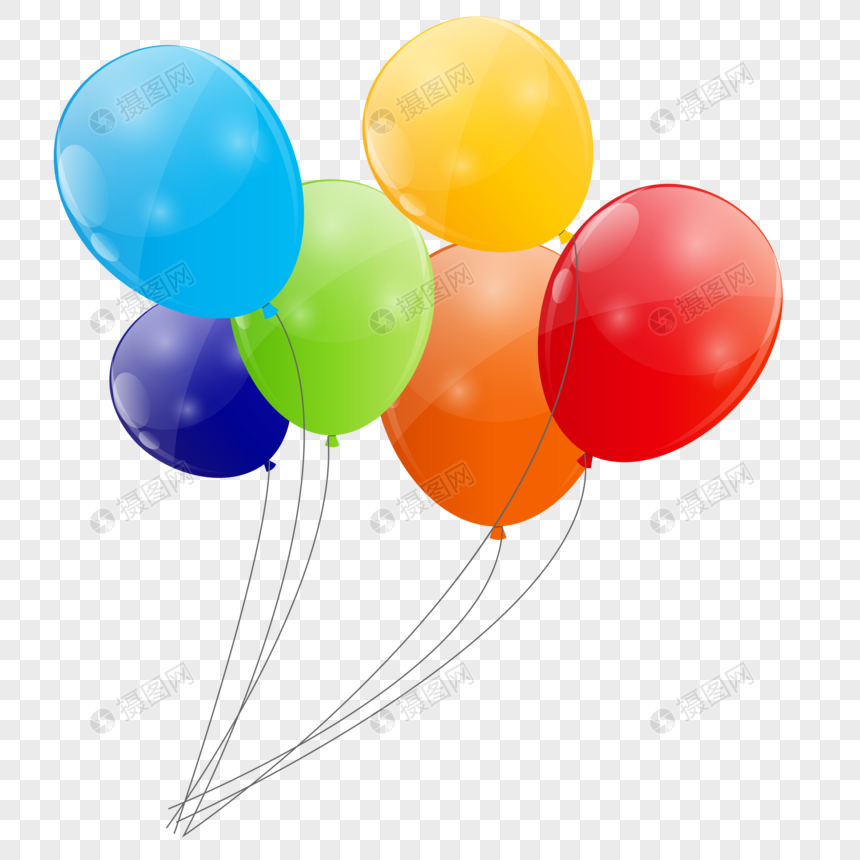 globos de colores Imagen Descargar_PRF Gráficos 400910892_PNG Imagen.