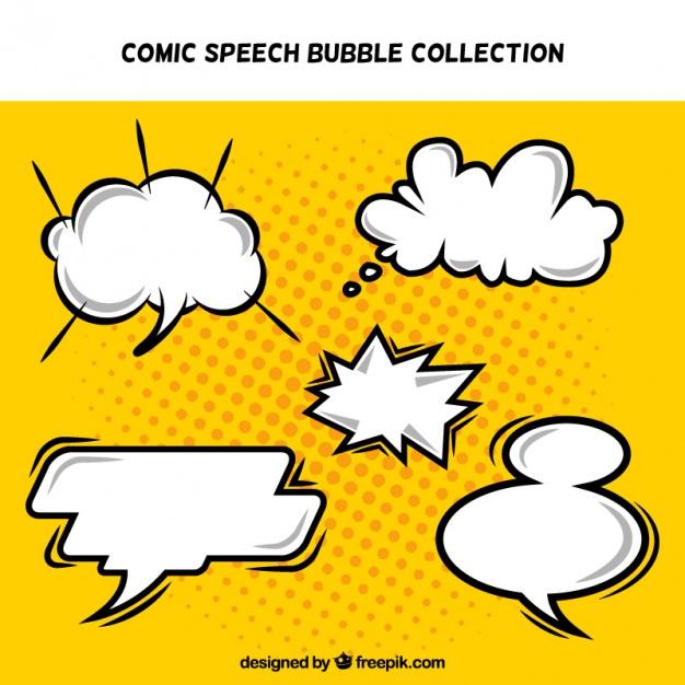 Pack de globos de diálogos de cómic.