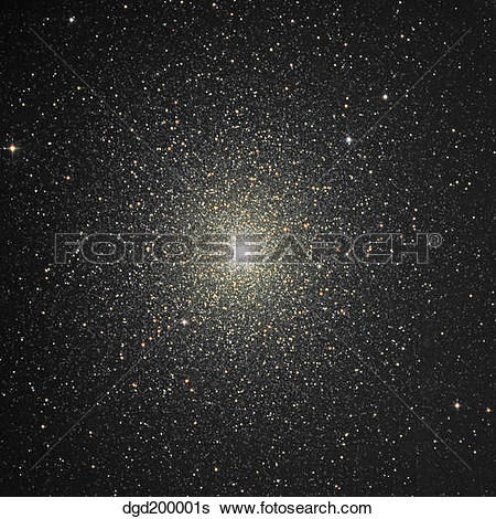 Stock Images of Globular cluster 47 Tucanae in the southern.