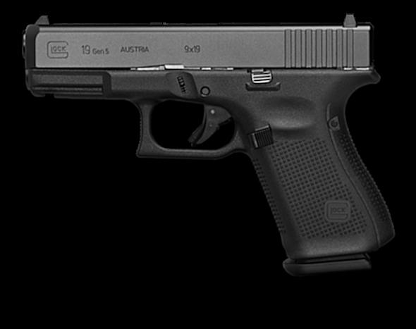 GLOCK 19 Glock Ges.m.b.H. 9 19mm Parabellum Pistol.