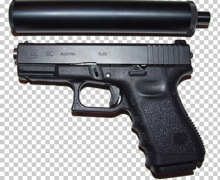 GLOCK 17 Pistol Silencer Weapon PNG, Clipart, Air Gun, Airsoft.