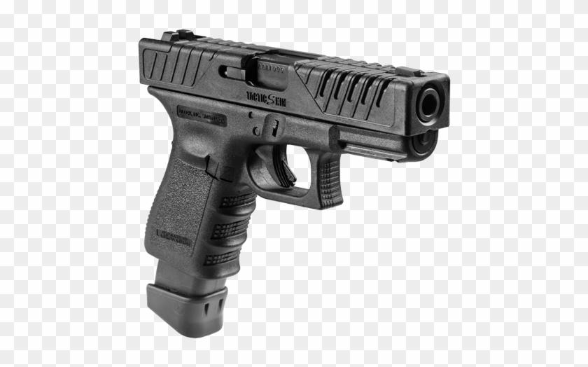 Glock 18 Handgun Png Image.